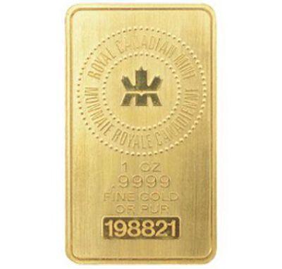 Lingot d'or de 1 oz - La Banque CIBC. Métaux précieux.