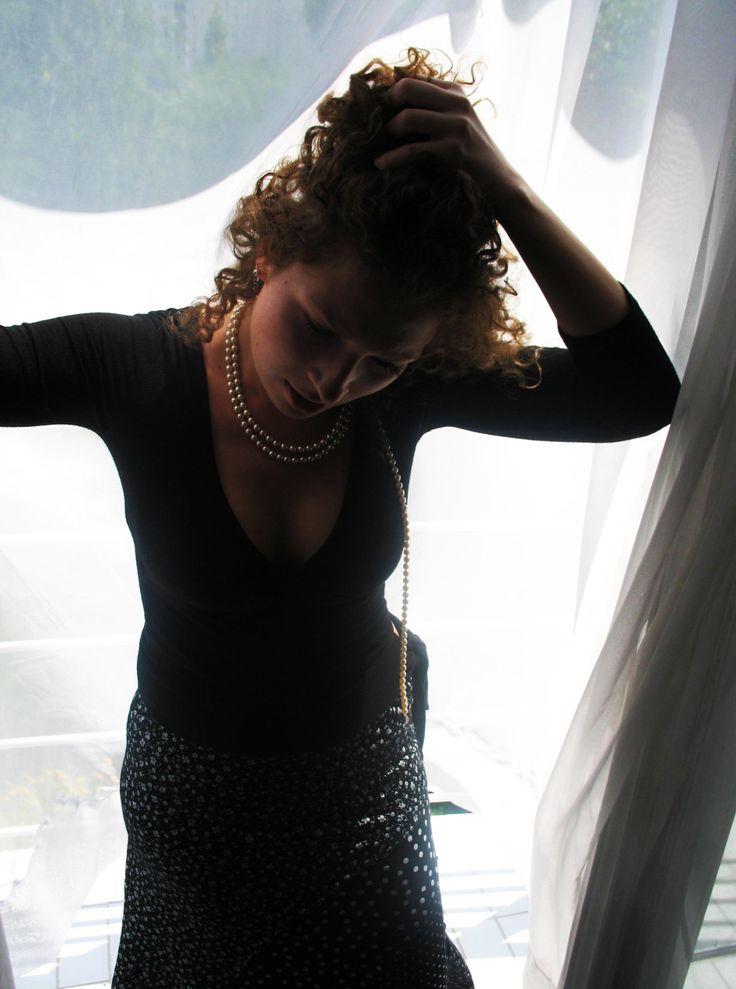 Photo by me. Photo: Diána Rigó #curly #hair #photography #sunshine #curtain #beauty