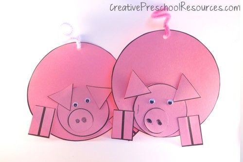 159 best images about three little pigs activities on for Pig template for preschoolers