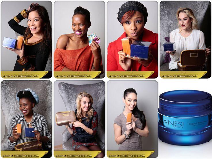 Jen su, Fix, Boity, Tamara Dey, Faith History, Elma, Rikki Brest with Anesi Beauté gifts. #ANESI #ANESIBEAUTE #SKINCARE