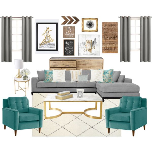 Grey, Turquoise U0026 Gold Living Room
