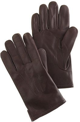 $98, J.Crew Cashmere Lined Leather Smartphone Gloves. Sold by J.Crew. Click for more info: https://lookastic.com/men/shop_items/4577/redirect