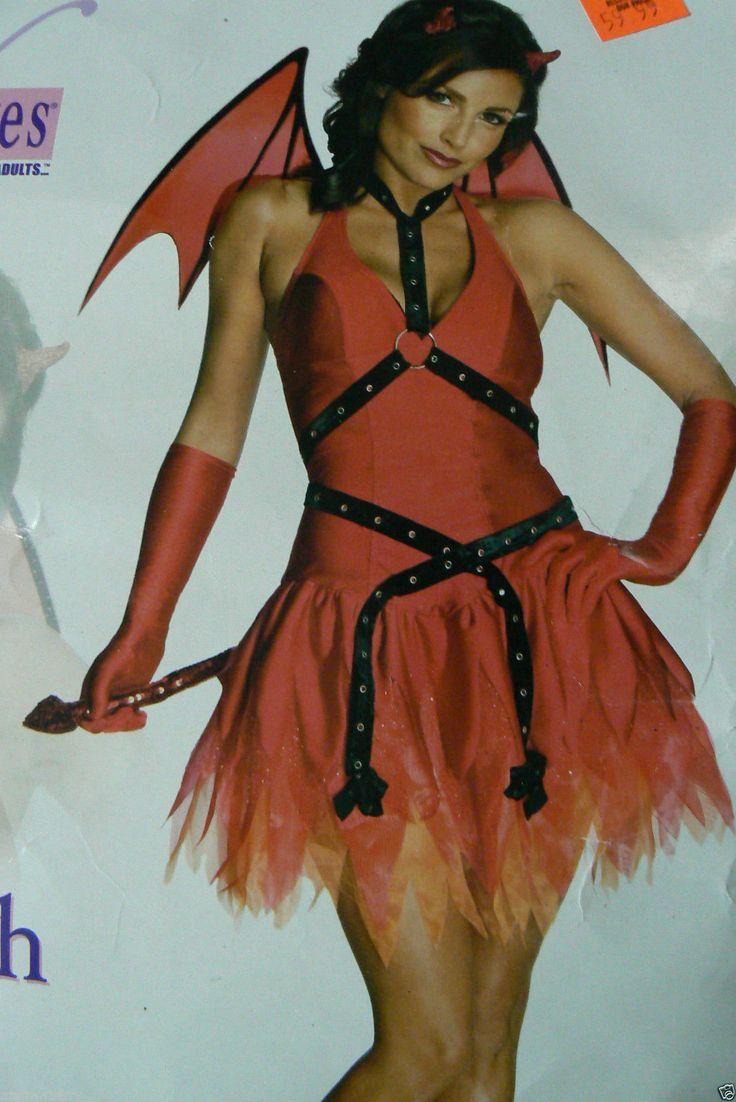Secret Wishes Red Devil Costume Devilish Desire Halloween Party ...