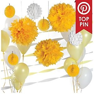 Chevron Yellow - Birthday Party Theme | BigDotOfHappiness.com