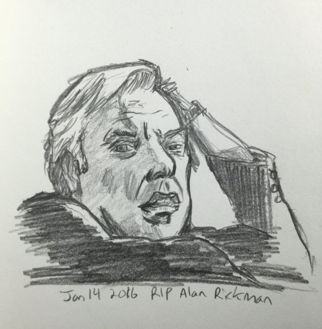 RIP Alan Rickman! -By Matt Fontaine #SktchyApp