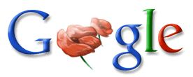 Google Logo - Anzac Day In Australia and New Zealand - April 25, 2009