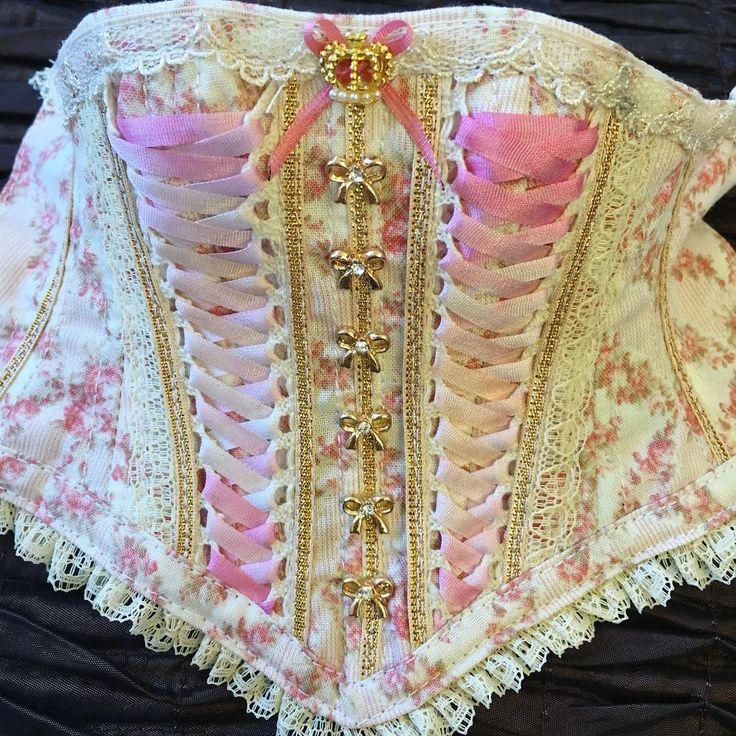 @hellcorgi on IG: Custom corset for feeple60! It's probably my favourite combo >> creams and…