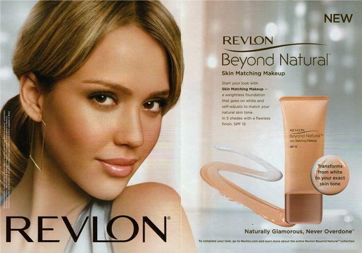 Jessica Alba Revlon 2008 Magazine Print Ad Clipping Vj Makeup Advertisement Best Makeup
