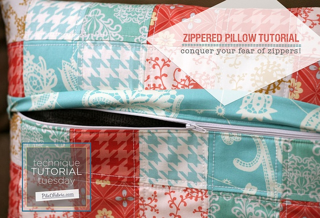 Add A Zipper And Zipper Flap To Your Quilted Pillow Shams