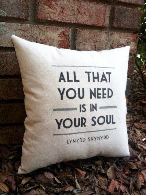 Simple Man- Lynyrd Skynyrd, Customizable double sided lyric pillow