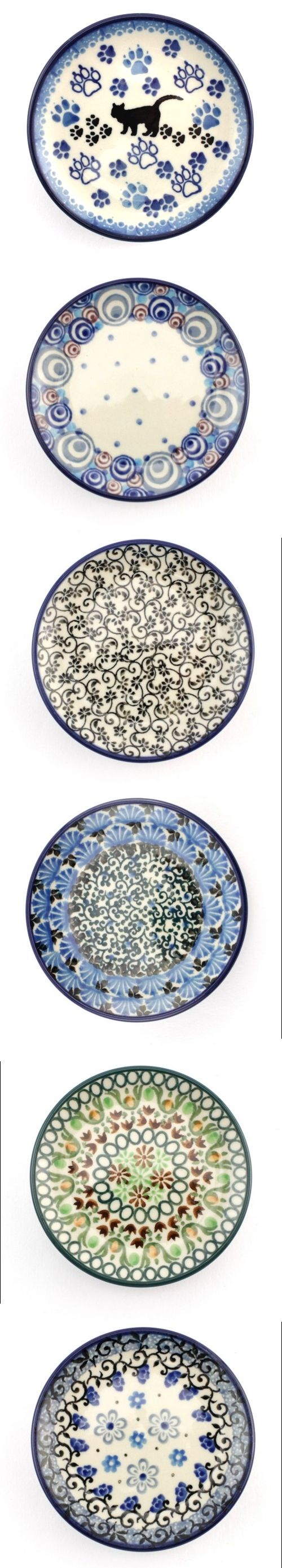 These six 3.9'' (10 cm) plates are new in our store :) Check http://slavicapottery.com to see more #PolishPottery now!