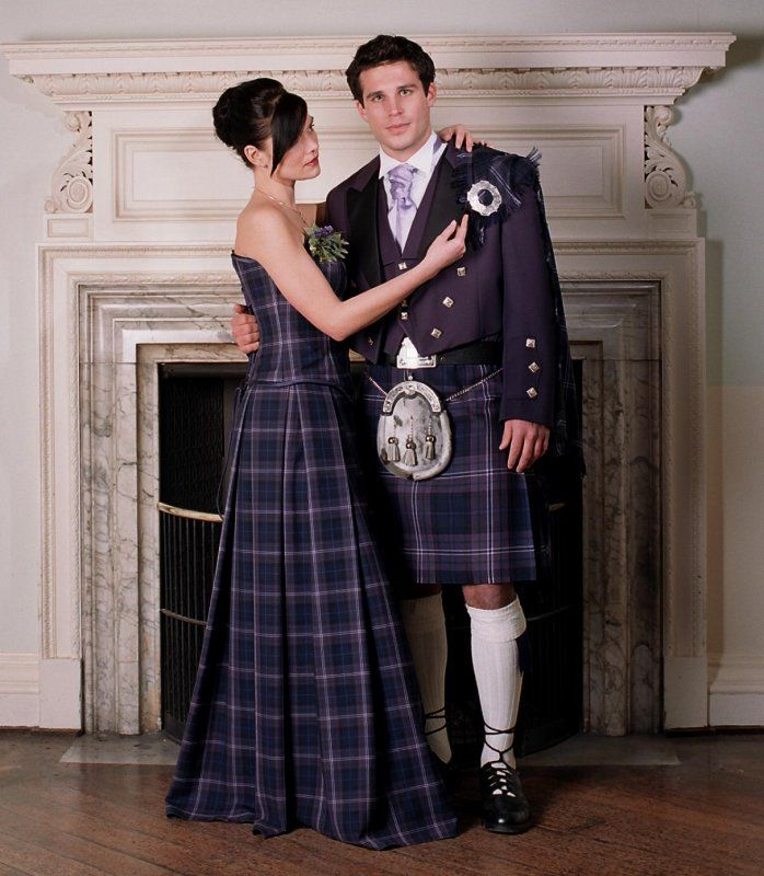 White Wedding Kilt: Scotland Forever Tartan