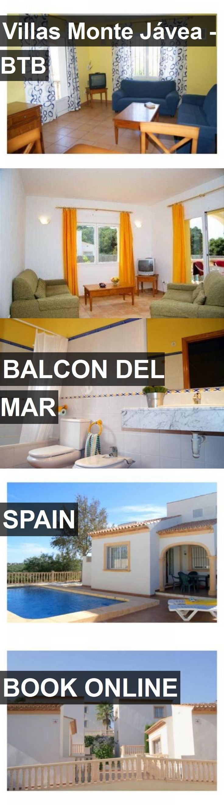 Hotel Villas Monte Jávea - BTB in Balcon del Mar, Spain. For more information, photos, reviews and best prices please follow the link. #Spain #BalcondelMar #hotel #travel #vacation