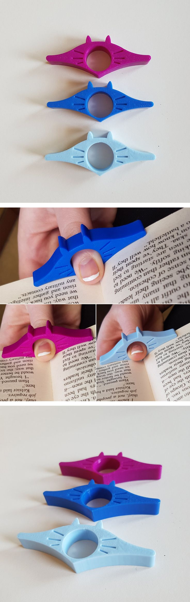 3D Printed Cat Page Holder   Gifts for cat lovers, Gifts for book lovers