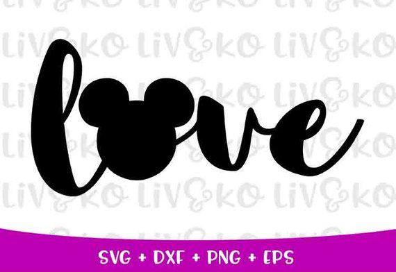 Download Disney love svg Love svg mickey head svg T-Shirt Svg ...