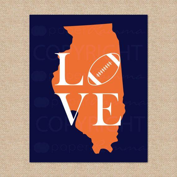 Chicago Bears NFL Football Print Da Bears by LOVEshackPaperie, $20.00