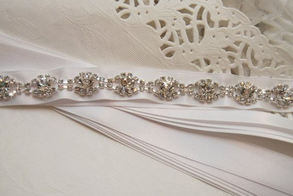 Bridal Belt Rhinestones Sash Wedding Sash by BridalBlushChampagne