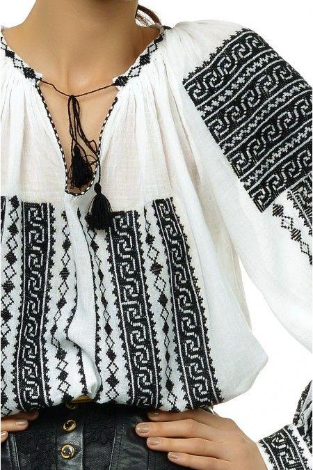 Ie Traditionala Romaneasca Maneca Lunga Motivul HORA