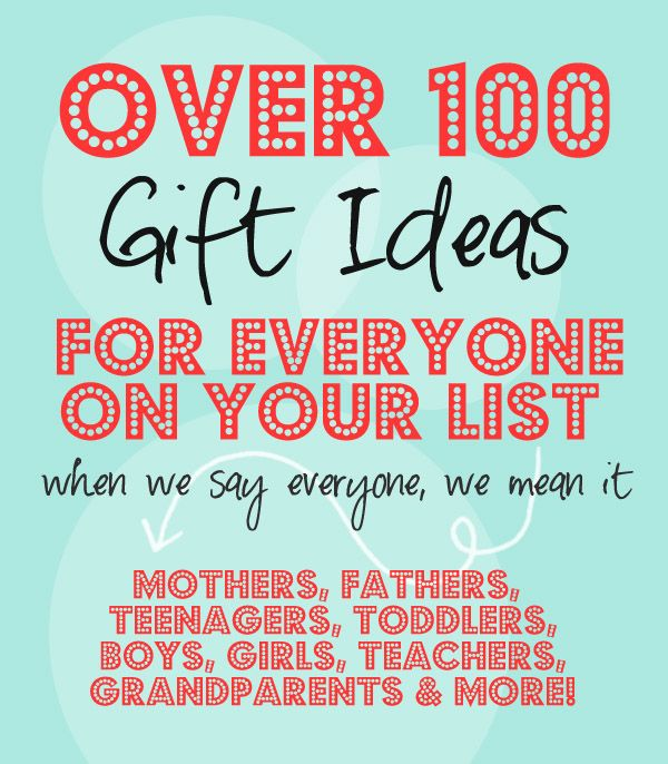 Over 100 Gift Ideas for EVERYONE on you List! {When we say everyone, we mean it!} // HowDoesShe.com #giftideas