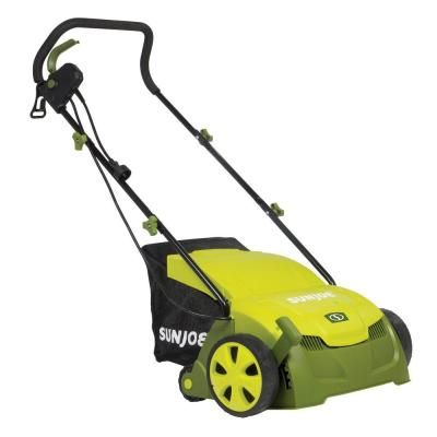 Sun Joe 13 in. 12 Amp Electric Scarifier + Lawn Dethatcher with Collection Bag $149.99 #BestPrice
