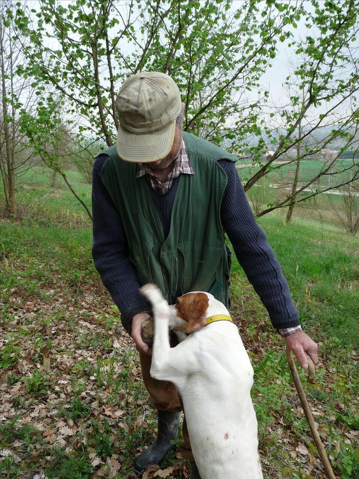 Diana's just found a truffle!