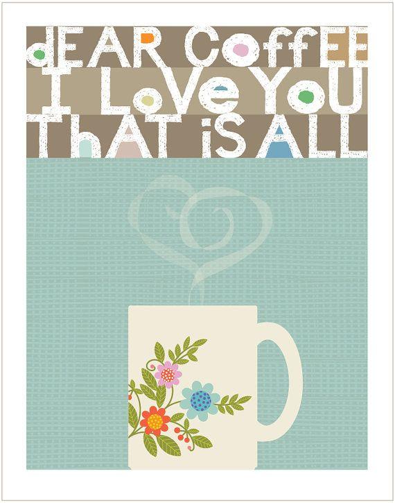 Christine Stalder Original Illustration - Limited Edition Print Dear Coffee