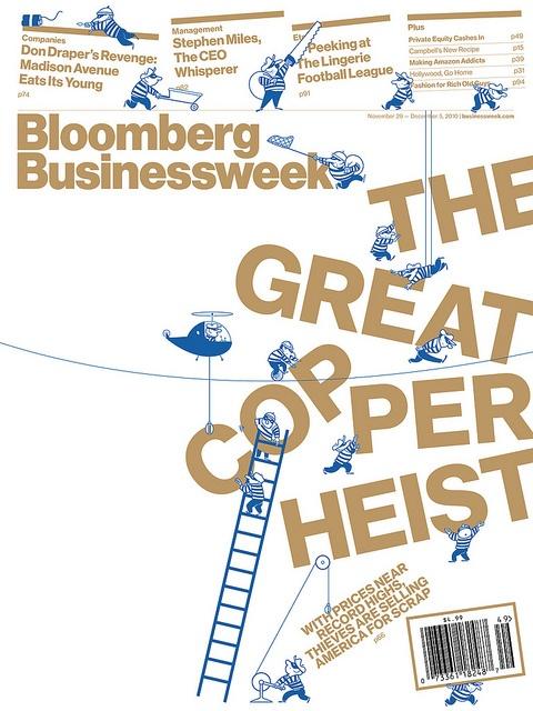 Bloomberg Businessweek: Copper Cover: iIllustration by Nishant Choksi: