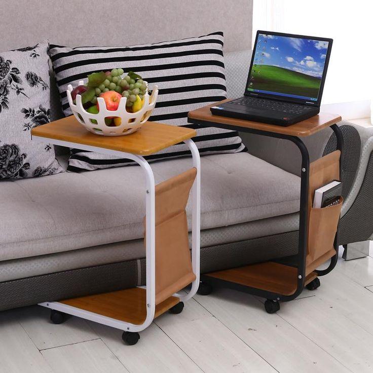 Простой диван ноутбук стол с колеса для облегчения небольшой письменный стол подвижный столы прикроватные тумбочки купить на AliExpress