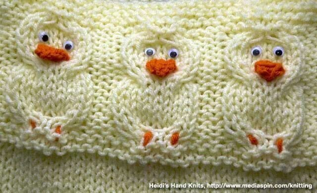 knitted chickens pattern