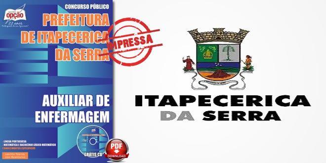 Nova -  Apostila Prefeitura de Itapecerica da Serra - Auxiliar de Enfermagem  #Aprovado