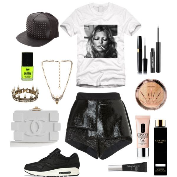 """blacksheepsummerinthecity"" by blacksheep39 on Polyvore #summeroutfit #citystyle #casual #comfy #nike #black #blackandwhite #neon"