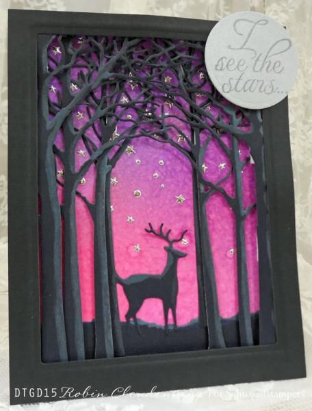 Featuring Memory Box's Deer In The Trees SKU 483020, and Medium Forest Archway 577437.  Available at www.addictedtorubberstamps.com