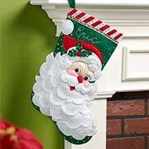 Bucilla+®+Seasonal+-+Felt+-+Stocking+Kits+-+Jolly+Saint+Nick
