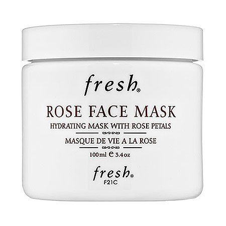 Fresh Rose Face Mask 3.4 oz by Fresh. $55.00. What it is:A hydrating and toning gel mask that contains real rose petals.What it is formulated to do:Rose Face Mask is a hydrating and toning gel mask that restores suppleness and radiance to the skin. The first-of-its-kind formula contains real rose petals that literally melt into your skin. The formula contains 50% pure rose floral water and is enriched with cucumber extract, rose oil, aloe vera, and porphyridium cru...