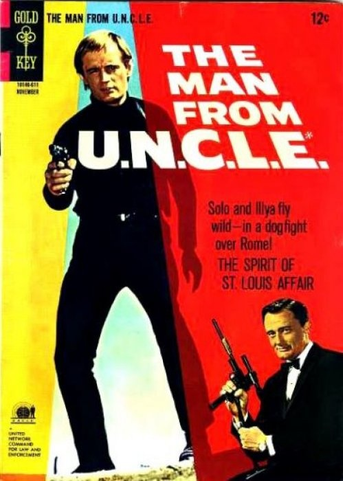 David McCallum (now in NCIS) and Robert Vaughan (most recently in Coronation Street) as  Illya Kuryakin and Napoleon Solo.  The Man From U.N.C.L.E ran for 105 episodes, 1964-68.