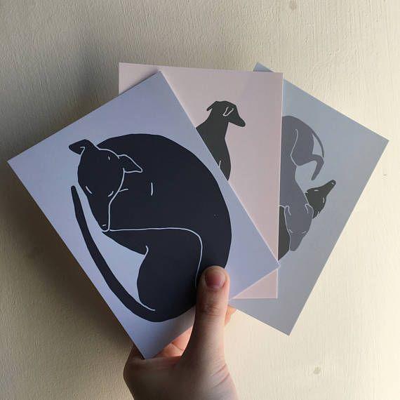 Greyhound postcard set