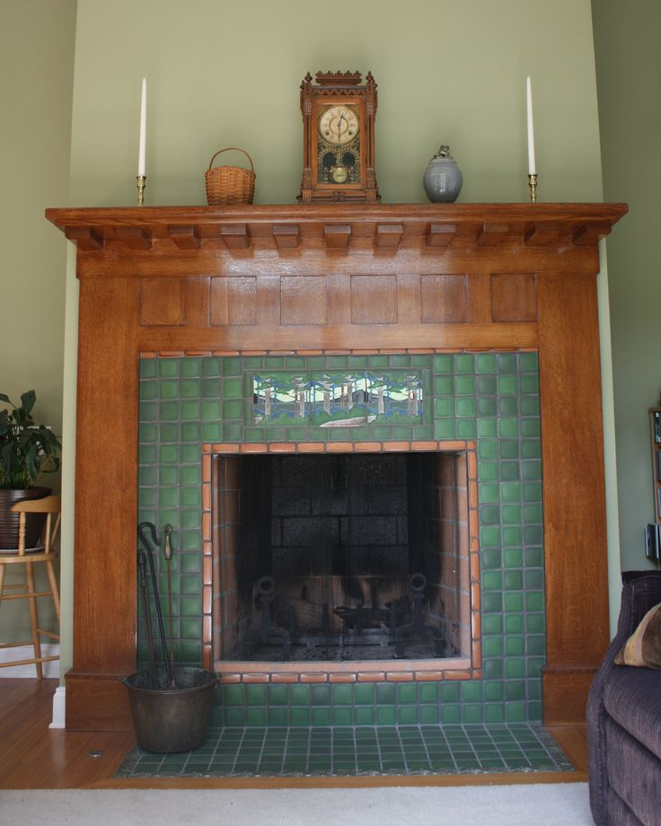 101 best images about fireplaces by motawi on pinterest for Bungalow fireplace ideas