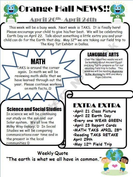 50 best images about Teaching Newsletter – Teacher Newsletter Template