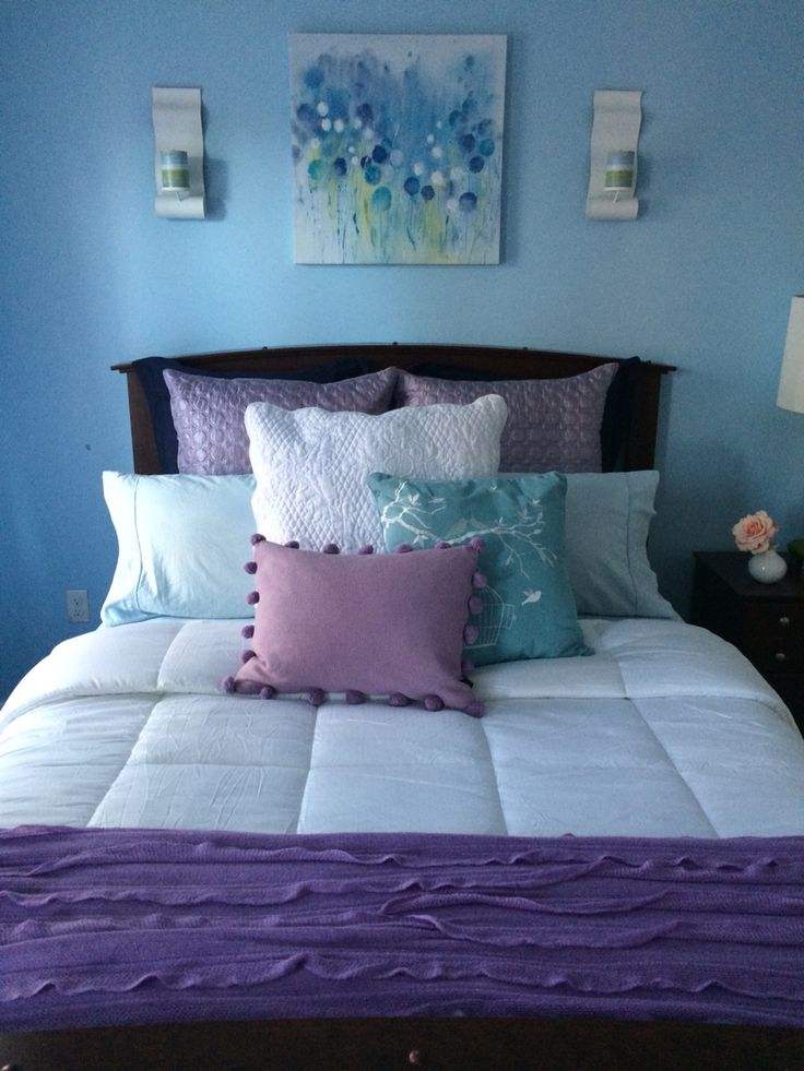 1000+ Ideas About Blue Purple Bedroom On Pinterest