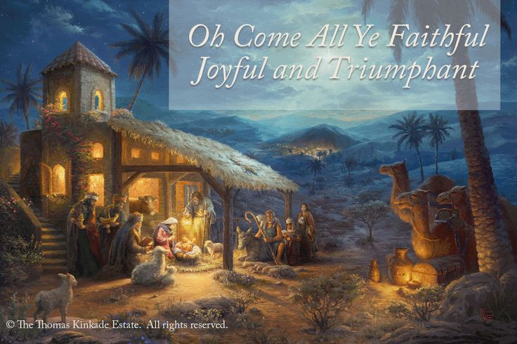 "Merry Christmas! Sunday Inspiration. ""Share the Light."" ""The Nativity"" - Thomas Kinkade Studios – 2016    https://thomaskinkade.com/art/the-nativity/?ref=13  l #Christmas2016"