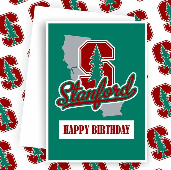 Stanford The Stanford University Fan College Football Card Football Greeting Cards Stanford University Football Cards Greeting Cards