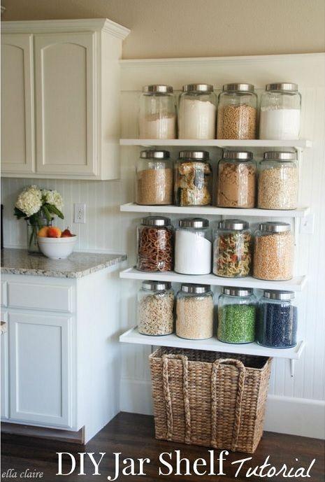 Kitchen Jar Shelves
