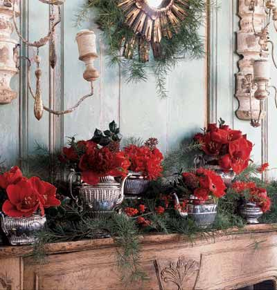 Decorate with silver teapots