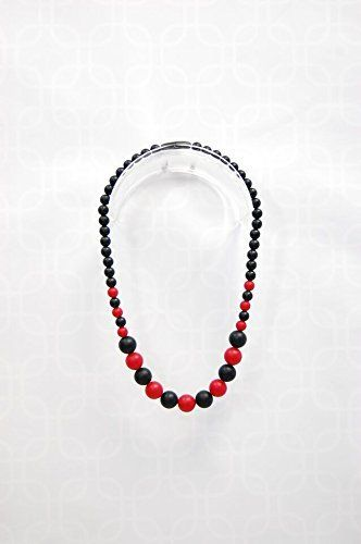 Junior Incredible Necklace - Black and Red 3+ review GUMEEZ JR necklace black and red. GUMEEZTM products are intended for teething purposes only. GUMEEZTM products are intended to be used under supervision only – please never leave baby unattended with GUMEEZTM products or any other teething jewelry or products. We created GUMEEZTM to...