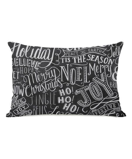 Holiday Lettering Throw Pillow