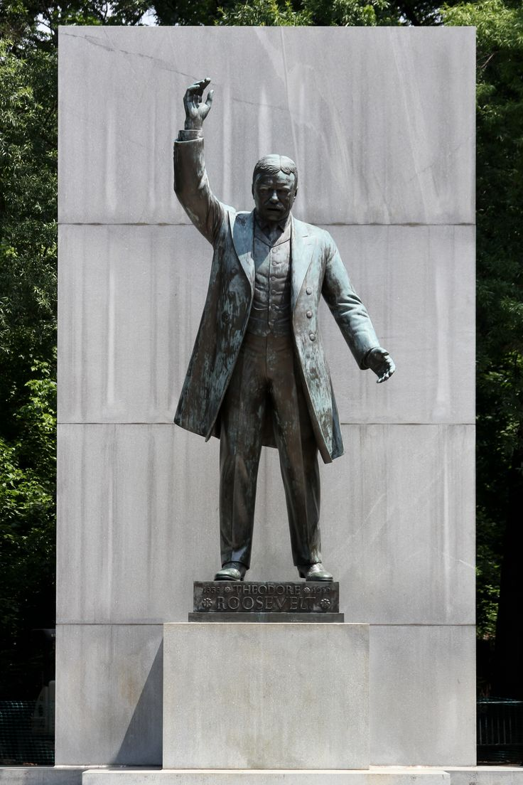 Theodore Roosevelt 17foot Centerpiece Statue: Theodore Roosevelt Island Is  A 885acre