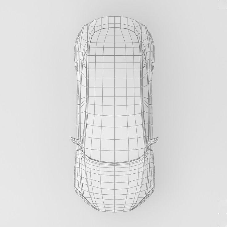 3d tesla s car