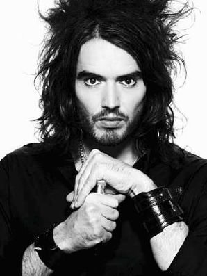 Russell Brand. Comedian, actor (exclusively plays self), author, television writer, professional personality, and formerly homeless. Accolades out his ears. WWW.MOOLART.COM