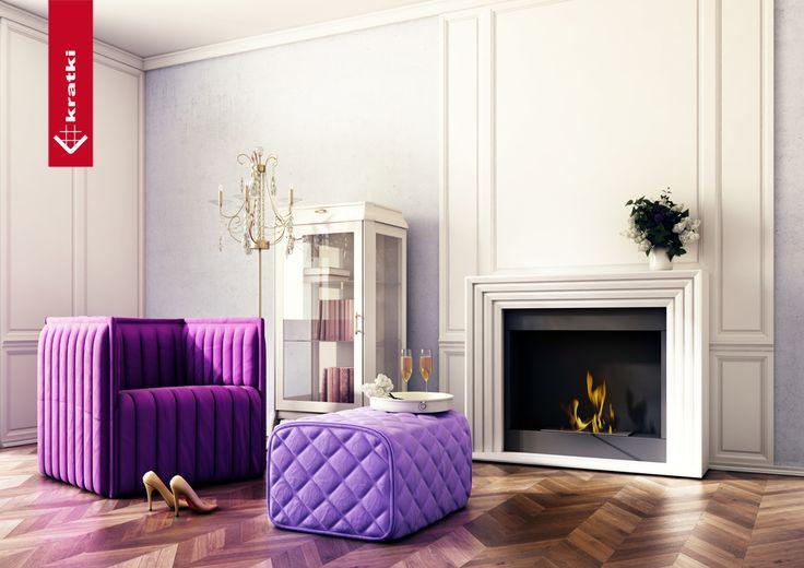 Biofireplace Planet #kratki #biofireplace #interior #glamour #white #velvet