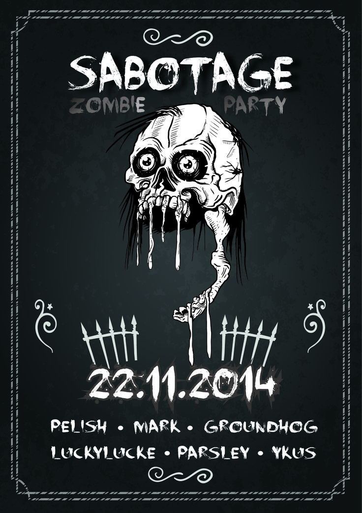Poster // Sabotage Bar // Zombie